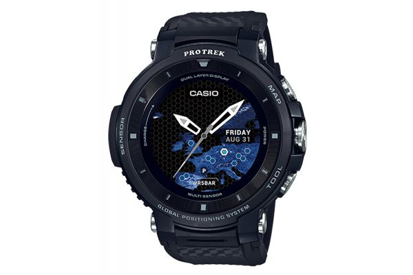 Casio Pro Trek Black Outdoor Smart Watch - WSD-F30BK