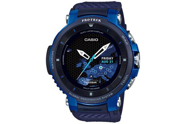Casio Pro Trek Blue Outdoor Smart Watch - WSD-F30BU