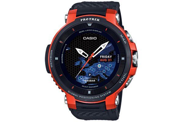 Casio Pro Trek Orange Outdoor Smart Watch - WSD-F30RG