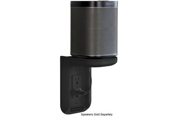 Large image of Sanus Black Speaker Mount Outlet Shelf (Each) - WSOS1-B1
