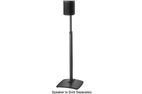 Large image of Sanus Black Adjustable Height Wireless Speaker Stand (Each) - WSSA1-B1