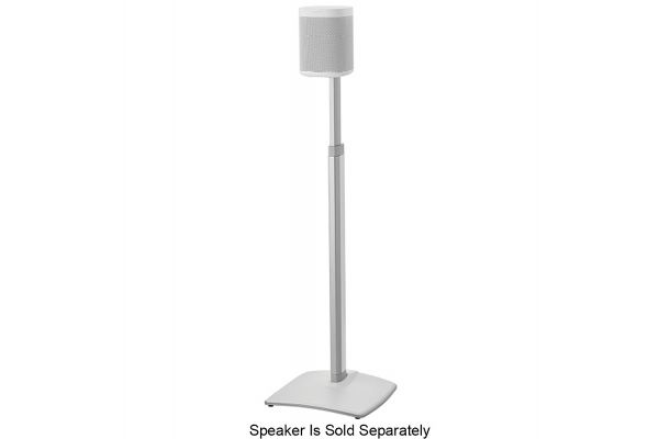 Large image of Sanus White Adjustable Height Wireless Speaker Stand (Each) - WSSA1-W1