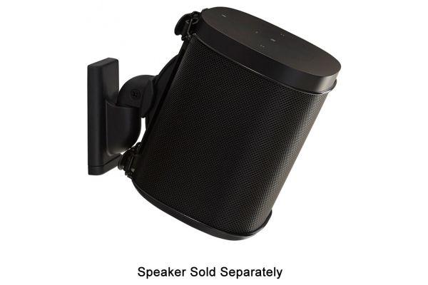 Large image of Sanus Black Wireless Speaker Swivel And Tilt Wall Mount (Each) - WSWM21-B1
