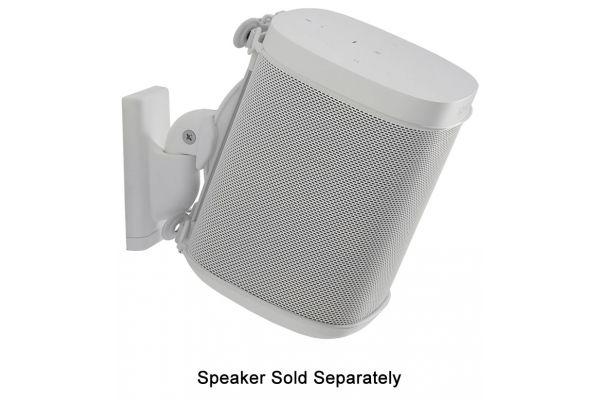 Large image of Sanus White Wireless Speaker Swivel And Tilt Wall Mount (Each) - WSWM21-W1