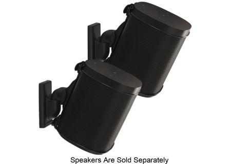 Sanus Black Wireless Speaker Wall Mounts (Pair) - WSWM22-B1