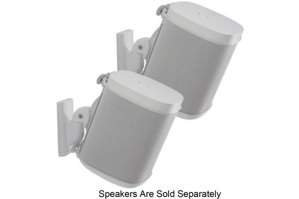 Large image of Sanus White Wireless Speaker Wall Mounts (Pair) - WSWM22-W1