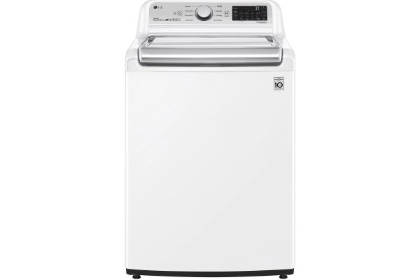 Large image of LG 4.8 Cu. Ft. White Smart Wi-Fi Enabled Top Load Washer With Agitator And TurboWash3D Technology - WT7305CW