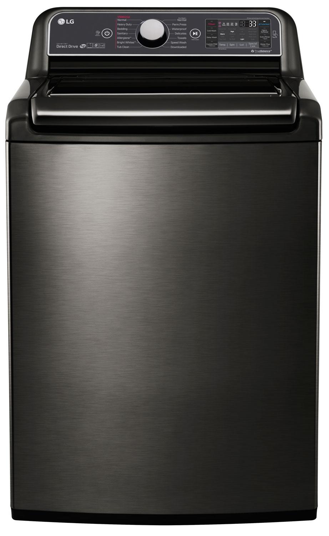LG Black Stainless Steel Top Loading Washer - WT7600HKA