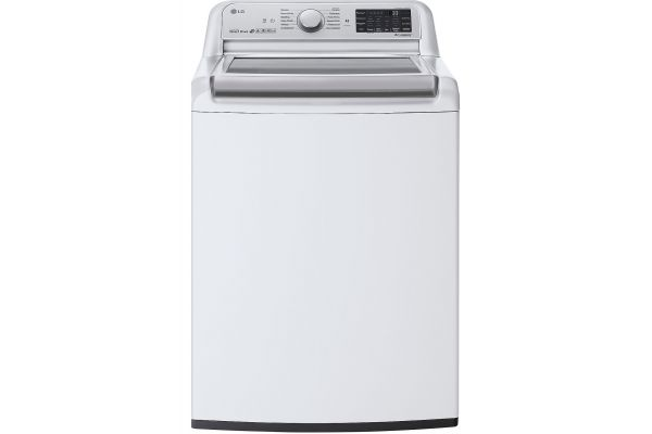 Large image of LG 5.5 Cu. Ft. White Smart Wi-Fi Enabled Top Load Washer With TurboWash3D Technology - WT7800CW