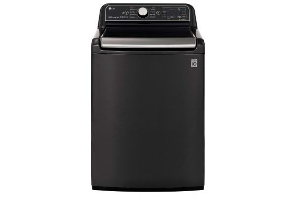 Large image of LG 5.5 Cu. Ft. Black Steel Smart Top Loading Washer With TurboWash - WT7900HBA