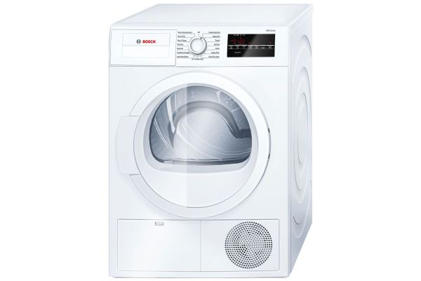 "Bosch 24"" 300 Series White Condensation Electric Dryer - WTG86400UC"