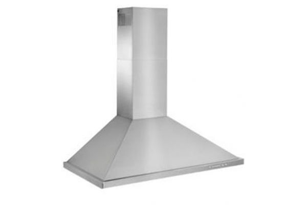"Large image of Best 36"" Brushed Stainless Steel Wall Mount Chimney Hood - WTT32I336SB"