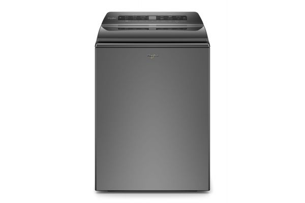 Large image of Whirlpool 4.8 Cu. Ft. Chrome Shadow Smart Capable Top Load Washer - WTW6120HC