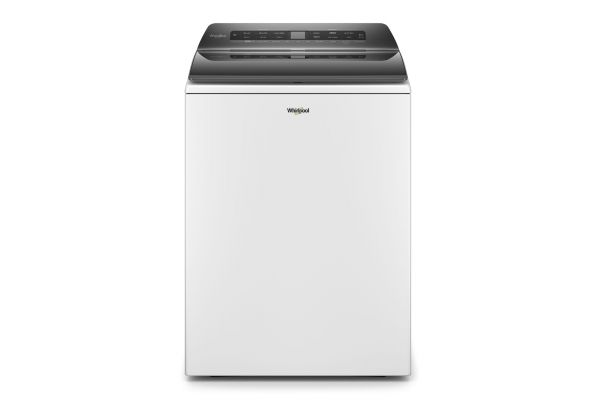 Large image of Whirlpool 4.8 Cu. Ft. White Smart Capable Top Load Washer - WTW6120HW