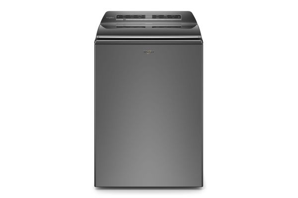 Large image of Whirlpool 5.3 Cu. Ft. Chrome Shadow Smart Capable Top Load Washer - WTW7120HC