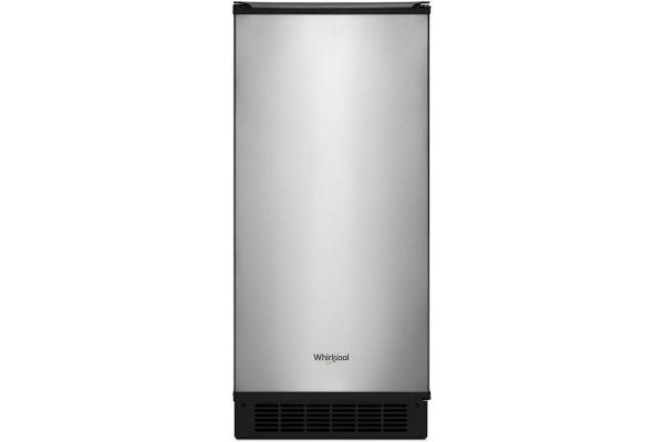 "Whirlpool 15"" Fingerprint Resistant Stainless Steel Ice Maker - WUI95X15HZ"