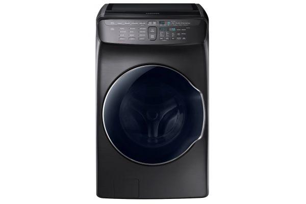 Samsung Fingerprint Resistant Black Stainless Steel FlexWash Washer - WV55M9600AV