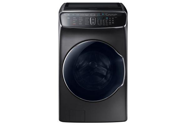Samsung 6.0 Cu. Ft. Fingerprint Resistant Black Stainless Steel FlexWash Washer - WV60M9900AV