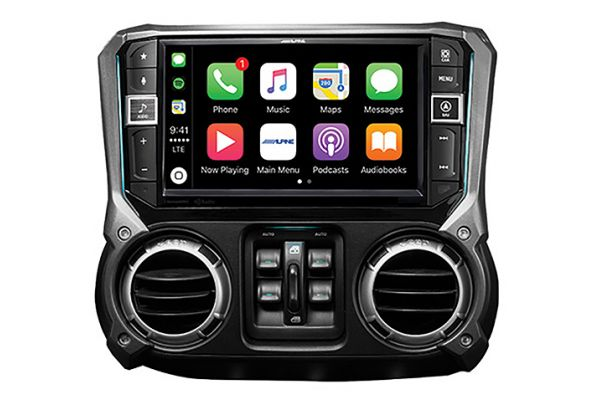 """Large image of Alpine 9"""" Weather Resistant Mech-Less Navigation System With Off-Road Mode For 2011-2018 Jeep Wrangler - X409-WRA-JK"""