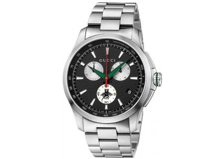 Gucci G-Timeless Stainless Steel Chronograph Mens Watch - YA126267