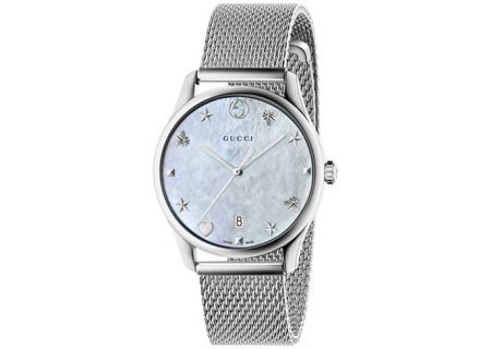 Gucci G-Timeless Stainless Steel Ladies Watch - YA1264040