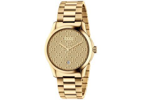 Gucci G-Timeless Gold Unisex Watch - YA126461
