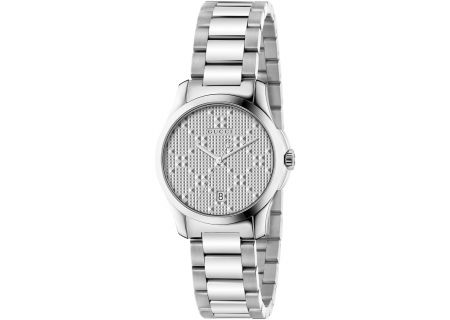 Gucci G-Timeless Diamante Stainless Steel Womens Watch - YA126551