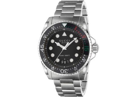 Gucci Dive Stainless Steel Mens Watch - YA136208