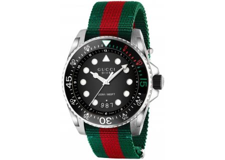 Gucci Dive Nylon Strap Mens Watch - YA136209