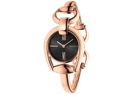 Gucci Horsebit Rose Gold Ladies Watch - YA139507