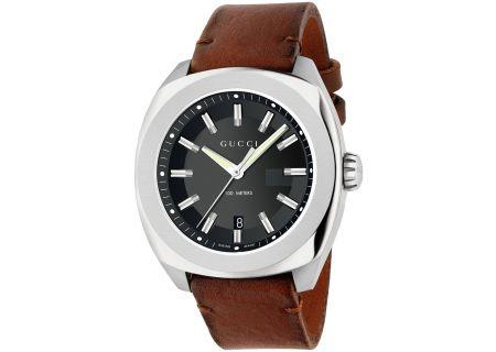Gucci GG2570 Brown Leather Mens Watch - YA142207