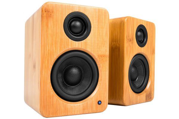 Large image of Kanto YU2 Powered Bamboo Desktop Speakers - YU2BAMBOO