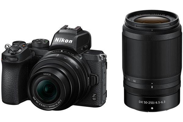 Large image of Nikon Z 50 Black Mirrorless Digital Camera With 2 Lens Kit - 1632