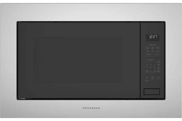 Monogram Stainless Steel/Black Built-In Microwave Oven - ZEB1227SLSS