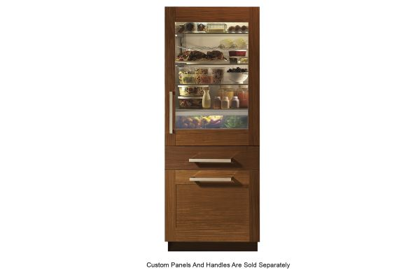 Monogram Panel-Ready Fully Integrated Glass Door Refrigerator For Single Or Dual Installation - ZIK30GNNII