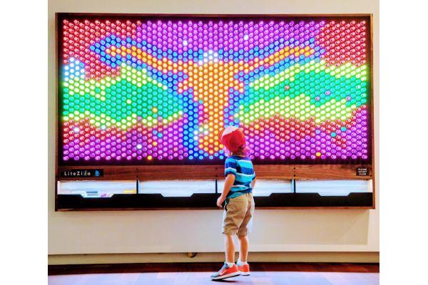 Large image of LiteZilla 8' x 6' Interactive Art Wall - XXLZILLA