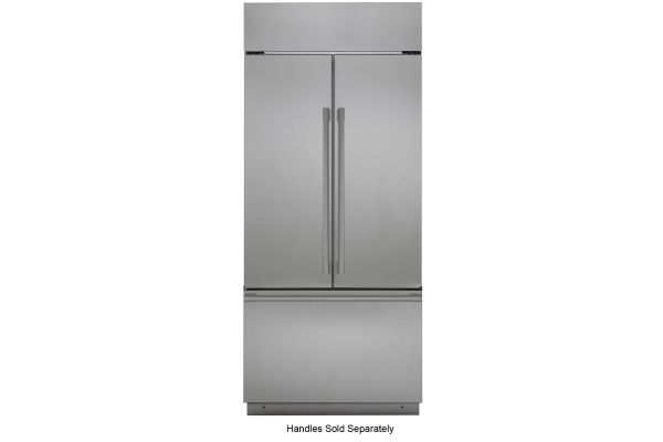"Large image of Monogram 36"" Stainless Steel Built-In French-Door Refrigerator - ZIPS360NNSS"
