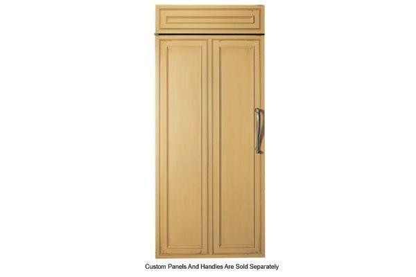 "Large image of Monogram 36"" Panel-Ready Left-Hinge Built-In All Refrigerator - ZIR360NNLH"