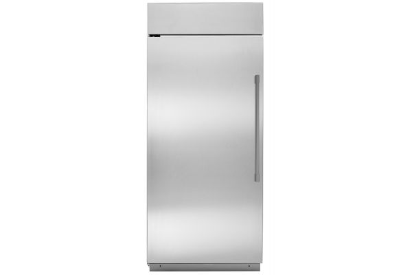 "Large image of Monogram 36"" Stainless Steel Left-Hinge Built-In All Refrigerator - ZIRS360NNLH"