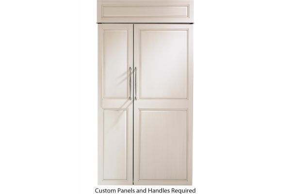 "Monogram 42"" Panel Ready Built-In Side-By-Side Refrigerator - ZIS420NK"
