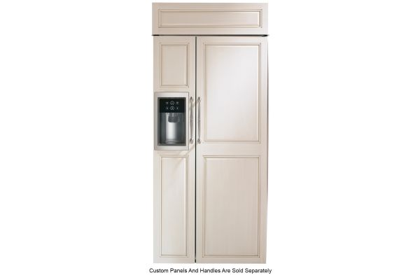 "Large image of Monogram 36"" Panel Ready Smart Built-In Side-By-Side Refrigerator With Dispenser - ZISB360DNII"