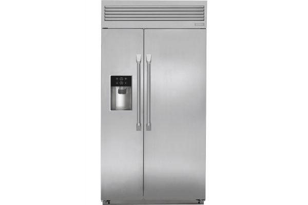 "Monogram 42"" Built-In Professional Side-By-Side Refrigerator - ZISP420DKSS"