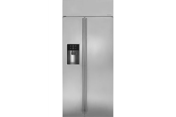 "Monogram 36"" Stainless Steel Built-In Side-By-Side Refrigerator - ZISS360DKSS"