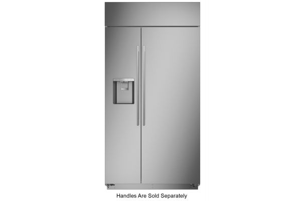 """Monogram 42"""" Stainless Steel Smart Built-In Side-By-Side Refrigerator With Dispenser - ZISS420DNSS"""