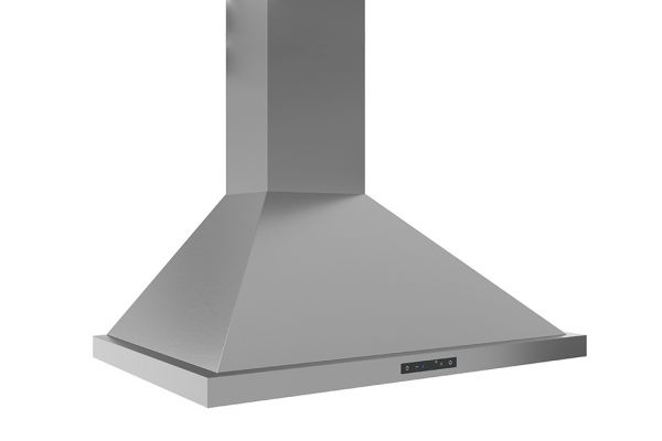 """Large image of Zephyr Ombra 30"""" Stainless Steel Chimney Wall Hood - ZOME30ASBAF"""