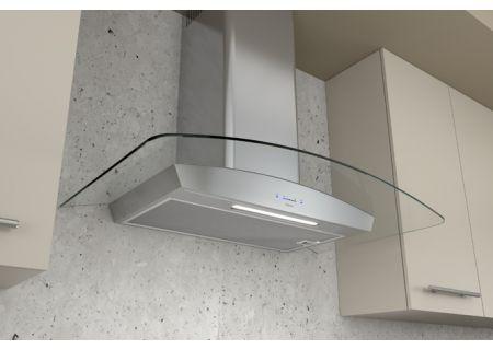 """Zephyr 30"""" Ravenna Stainless Steel Clear Wall Hood - ZRV-E30BGC"""