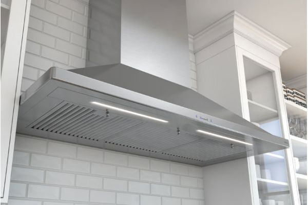 "Large image of Zephyr Siena Pro 42"" Stainless Steel Chimney Wall Hood - ZSPE42BS"