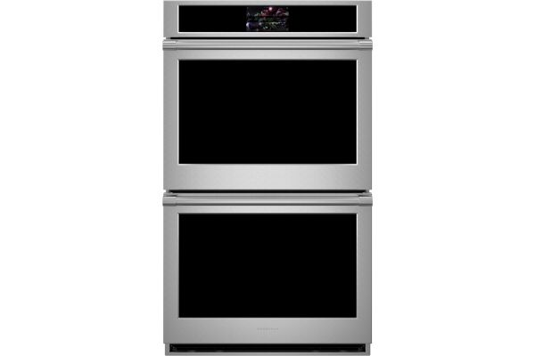 "Large image of Monogram Statement Collection 30"" Stainless Steel Smart Electric Convection Double Wall Oven - ZTDX1DPSN"