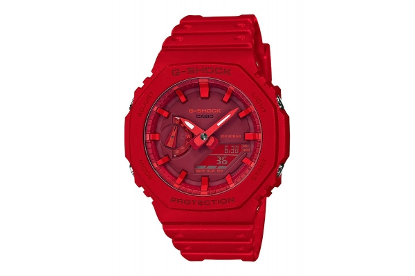 Large image of G-Shock Analog-Digital Red Mens Watch - GA21004A
