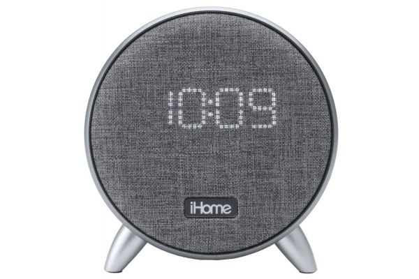 Large image of iHome Bluetooth Alarm Clock w/ Dual USB Charging & Ambient Light - IBT235